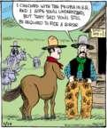 Comic Strip John Deering  Strange Brew 2017-06-26 horse riding