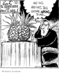 Cartoonist John Deering  Strange Brew 2007-11-03 fruit