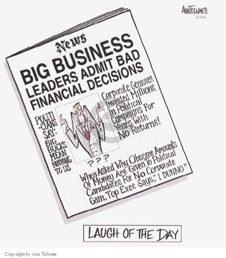 Cartoonist Ann Telnaes  Ann Telnaes' Editorial Cartoons 2002-02-24 political lobby