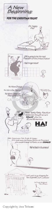 Cartoonist Ann Telnaes  Ann Telnaes' Editorial Cartoons 2000-08-09 pants