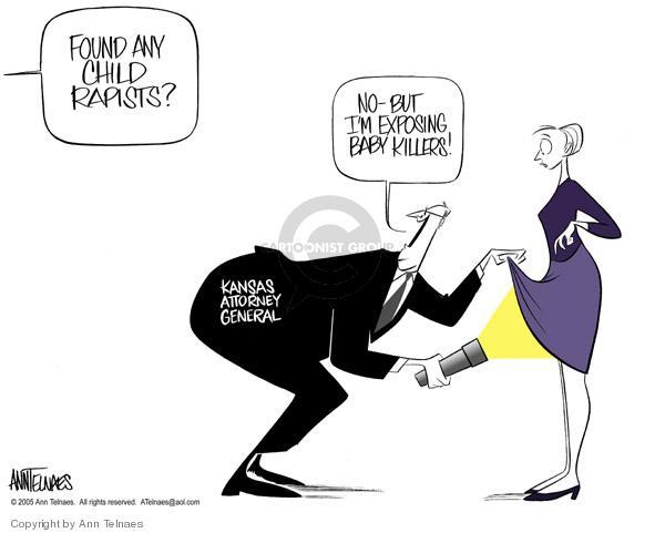 Ann Telnaes  Ann Telnaes' Editorial Cartoons 2005-02-27 pro-choice
