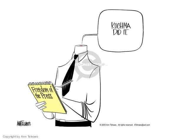 Ann Telnaes  Ann Telnaes' Editorial Cartoons 2005-03-06 media freedom