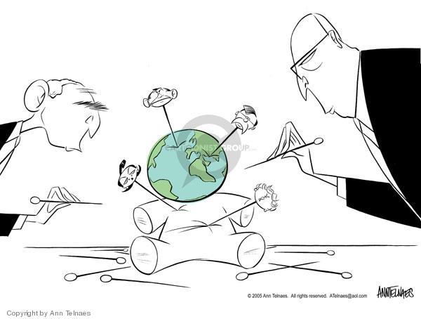 Cartoonist Ann Telnaes  Ann Telnaes' Editorial Cartoons 2005-03-17 global economy