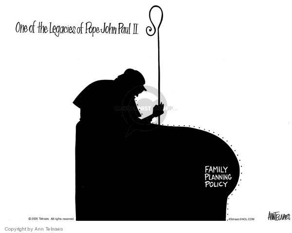 Ann Telnaes  Ann Telnaes' Editorial Cartoons 2005-04-04 pope