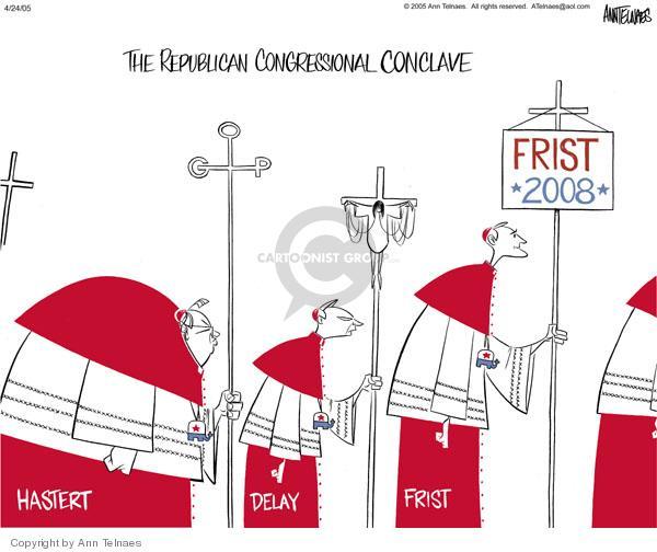 Ann Telnaes  Ann Telnaes' Editorial Cartoons 2005-04-23 pope