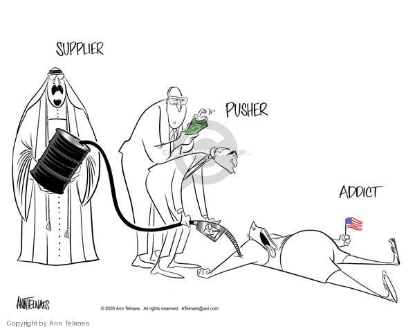 Ann Telnaes  Ann Telnaes' Editorial Cartoons 2005-04-26 oil cost