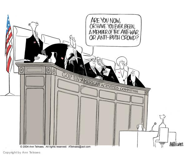 Cartoonist Ann Telnaes  Ann Telnaes' Editorial Cartoons 2004-09-25 freedom of expression
