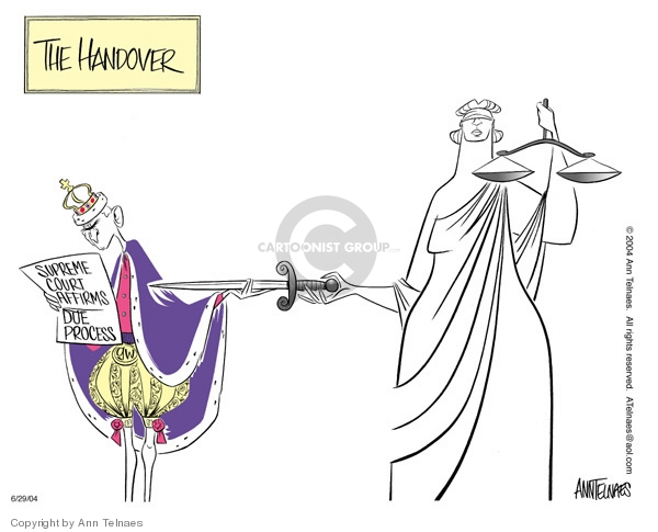 Cartoonist Ann Telnaes  Ann Telnaes' Editorial Cartoons 2004-06-29 Lady Justice