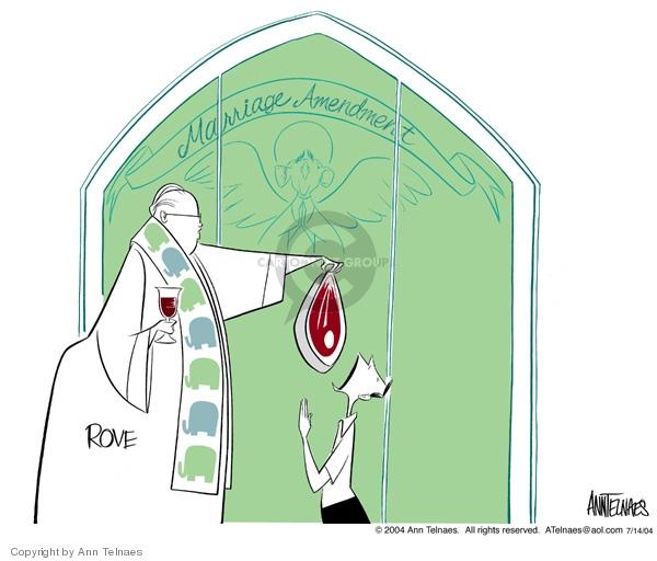 Ann Telnaes  Ann Telnaes' Editorial Cartoons 2004-07-14 meat
