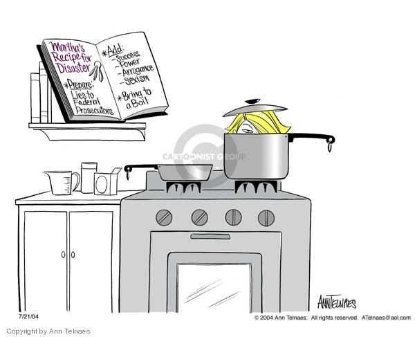 Ann Telnaes  Ann Telnaes' Editorial Cartoons 2004-07-21 disaster