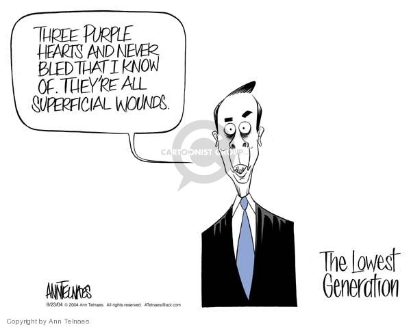 Ann Telnaes  Ann Telnaes' Editorial Cartoons 2004-08-23 John Kerry