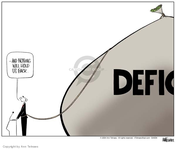 Ann Telnaes  Ann Telnaes' Editorial Cartoons 2004-09-04 deficit