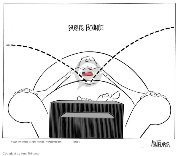 Ann Telnaes  Ann Telnaes' Editorial Cartoons 2004-09-09 popular support
