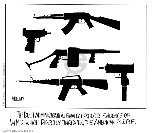 Ann Telnaes  Ann Telnaes' Editorial Cartoons 2004-09-13 assault weapon
