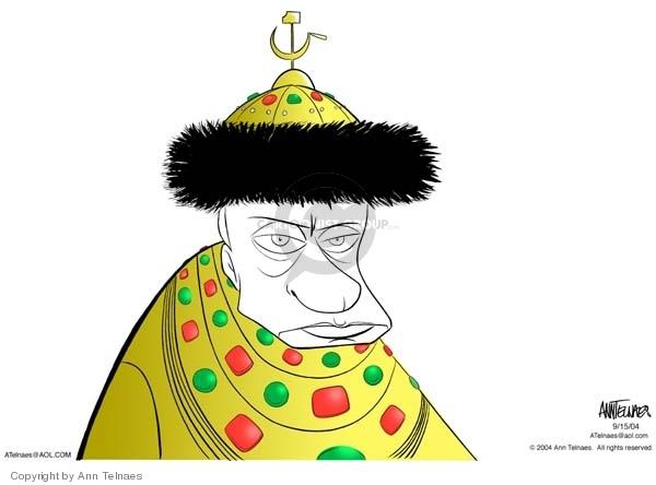 Ann Telnaes  Ann Telnaes' Editorial Cartoons 2004-09-15 emperor