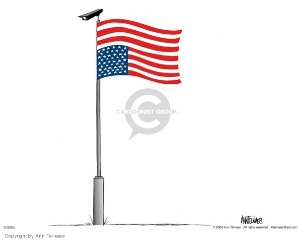 Ann Telnaes  Ann Telnaes' Editorial Cartoons 2004-11-03 civil liberty