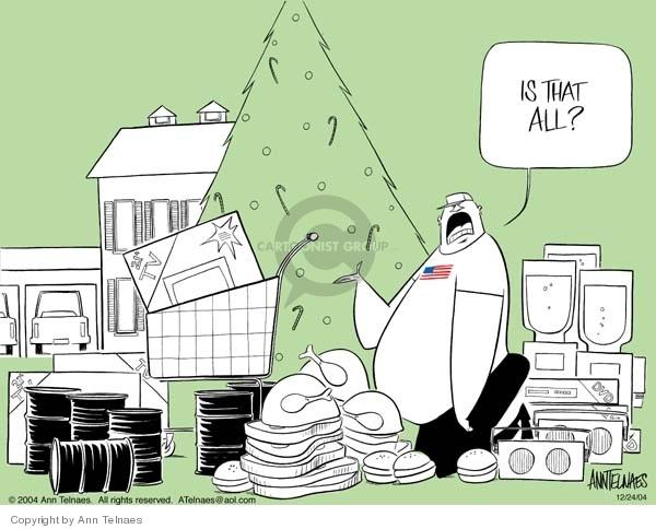 Cartoonist Ann Telnaes  Ann Telnaes' Editorial Cartoons 2004-12-24 Christmas