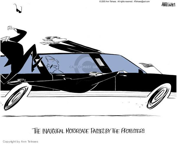 Cartoonist Ann Telnaes  Ann Telnaes' Editorial Cartoons 2005-01-20 limousine