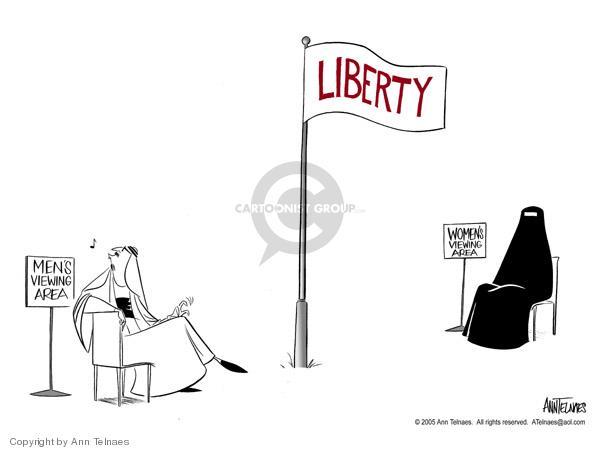 Ann Telnaes  Ann Telnaes' Editorial Cartoons 2005-01-27 burka