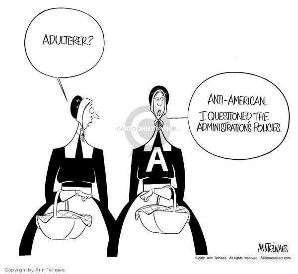 Ann Telnaes  Ann Telnaes' Editorial Cartoons 2001-12-12 Bush administration