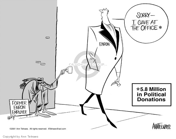 Ann Telnaes  Ann Telnaes' Editorial Cartoons 2001-12-29 employee