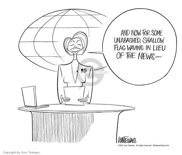 Cartoonist Ann Telnaes  Ann Telnaes' Editorial Cartoons 2001-12-31 reporter