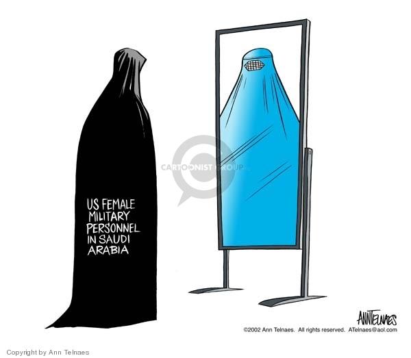 Ann Telnaes  Ann Telnaes' Editorial Cartoons 2002-01-07 burka