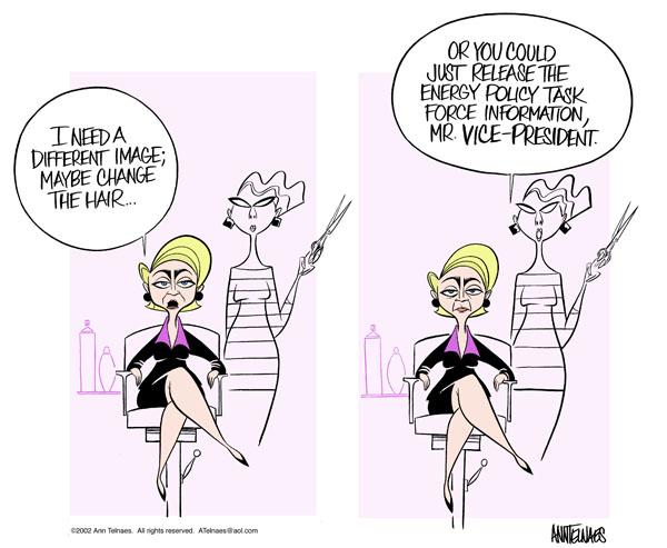 Ann Telnaes  Ann Telnaes' Editorial Cartoons 2002-01-24 could