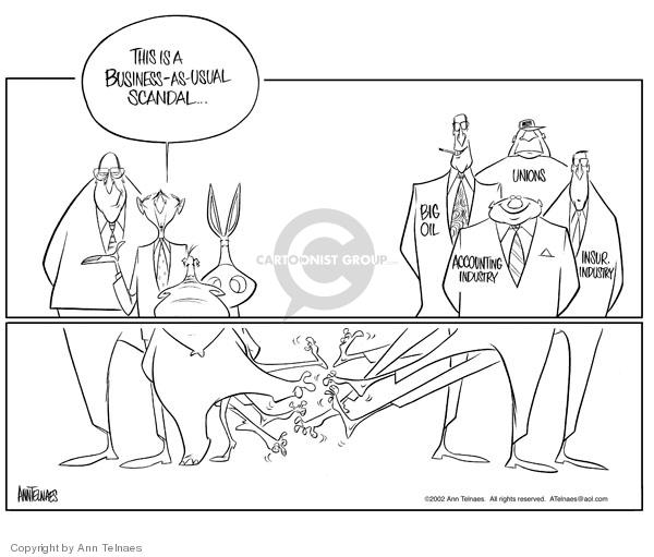 Ann Telnaes  Ann Telnaes' Editorial Cartoons 2002-01-29 business ethics