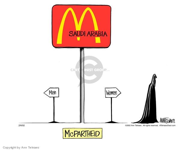 Saudi Arabia. Men. Women. McPartheid.