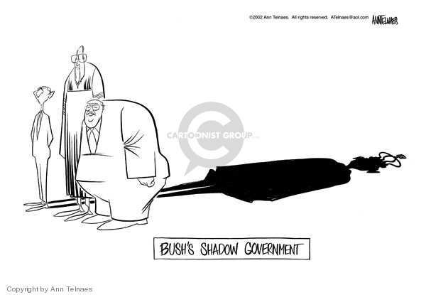 Cartoonist Ann Telnaes  Ann Telnaes' Editorial Cartoons 2002-03-02 George W. Bush