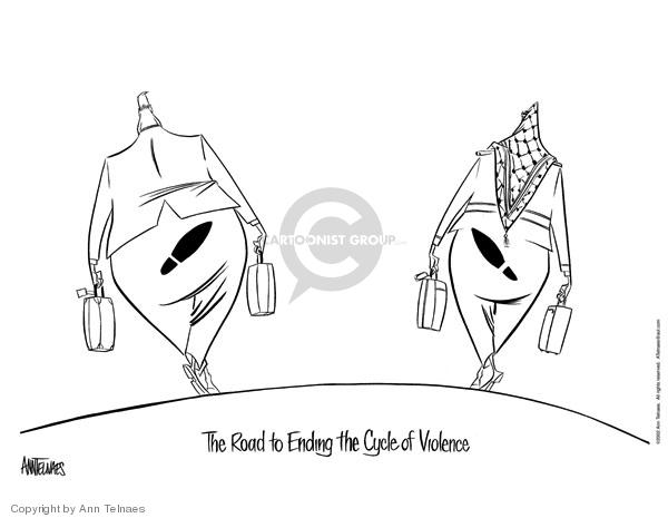 Cartoonist Ann Telnaes  Ann Telnaes' Editorial Cartoons 2002-03-13 international conflict