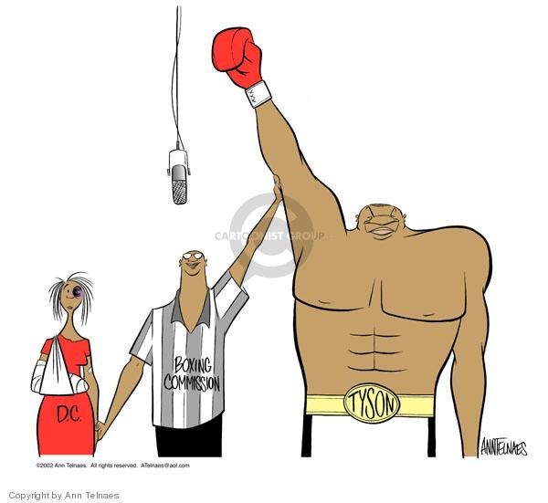 Ann Telnaes  Ann Telnaes' Editorial Cartoons 2002-03-14 Mike Tyson