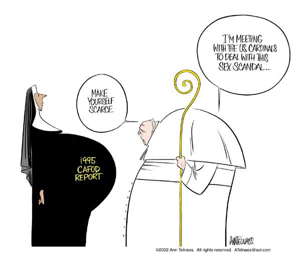 Ann Telnaes  Ann Telnaes' Editorial Cartoons 2002-04-16 pope