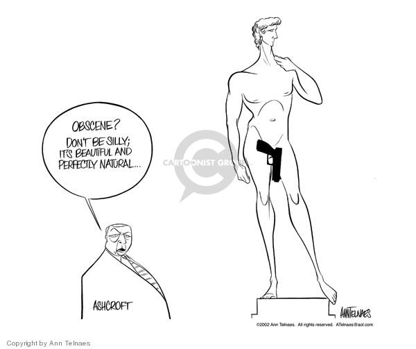 Cartoonist Ann Telnaes  Ann Telnaes' Editorial Cartoons 2002-05-10 gun rights
