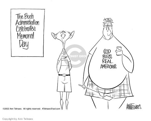 Ann Telnaes  Ann Telnaes' Editorial Cartoons 2002-05-24 Bush administration