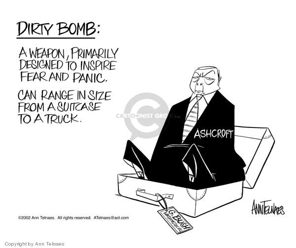 Cartoonist Ann Telnaes  Ann Telnaes' Editorial Cartoons 2002-06-13 John Ashcroft