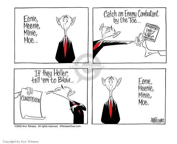 Ann Telnaes  Ann Telnaes' Editorial Cartoons 2002-06-19 civil liberty
