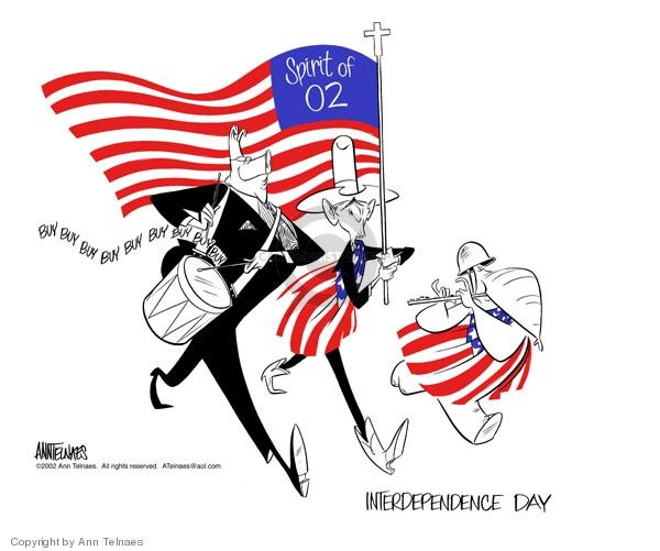 Ann Telnaes  Ann Telnaes' Editorial Cartoons 2002-07-02 consumerism