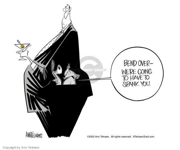 Ann Telnaes  Ann Telnaes' Editorial Cartoons 2002-07-15 partisan politics