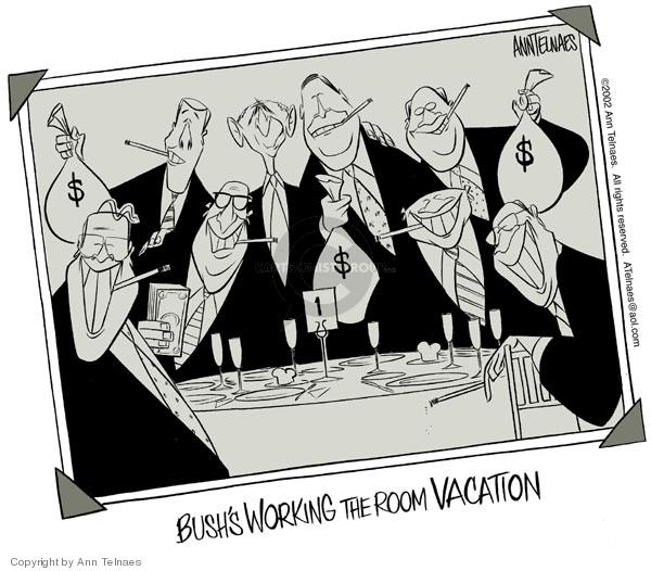 Cartoonist Ann Telnaes  Ann Telnaes' Editorial Cartoons 2002-08-07 vacation