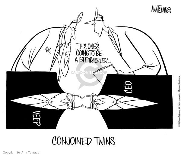 Ann Telnaes  Ann Telnaes' Editorial Cartoons 2002-08-08 business ethics