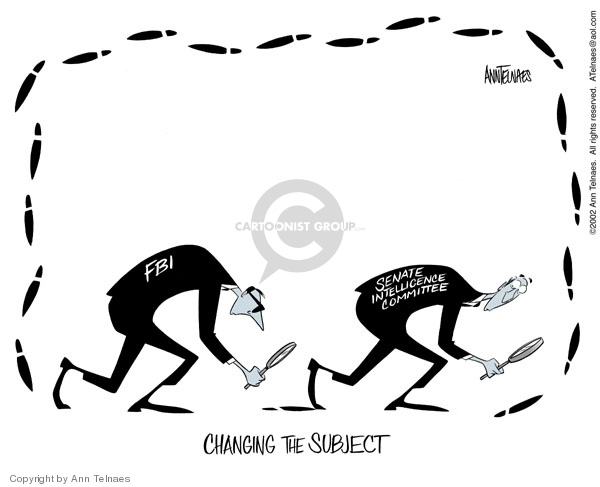 Changing the subject. FBI. Senate Intelligence Committee.