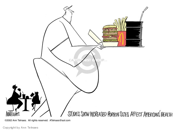Ann Telnaes  Ann Telnaes' Editorial Cartoons 2002-10-09 food
