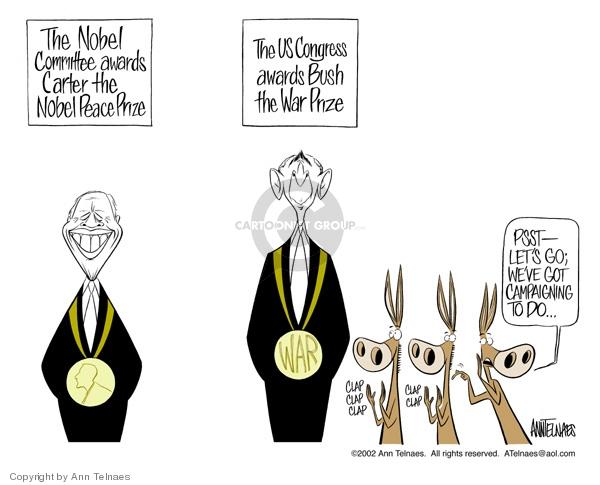Ann Telnaes  Ann Telnaes' Editorial Cartoons 2002-10-11 2004 election