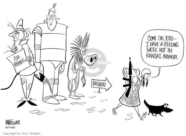 Ann Telnaes  Ann Telnaes' Editorial Cartoons 2002-10-14 WMD