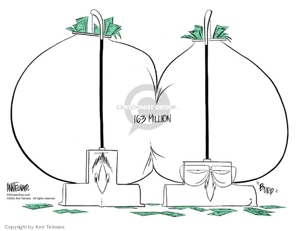 Cartoonist Ann Telnaes  Ann Telnaes' Editorial Cartoons 2002-10-31 political ethics