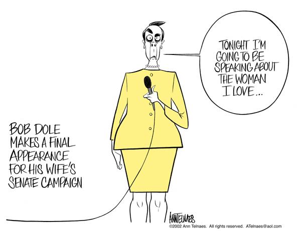 Cartoonist Ann Telnaes  Ann Telnaes' Editorial Cartoons 2002-11-03 senate
