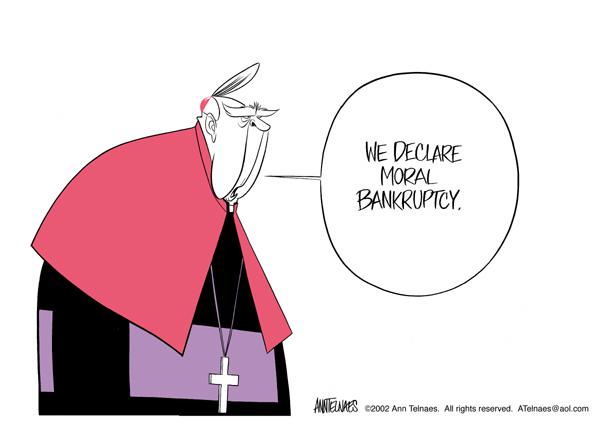 Ann Telnaes  Ann Telnaes' Editorial Cartoons 2002-12-02 Catholic Church