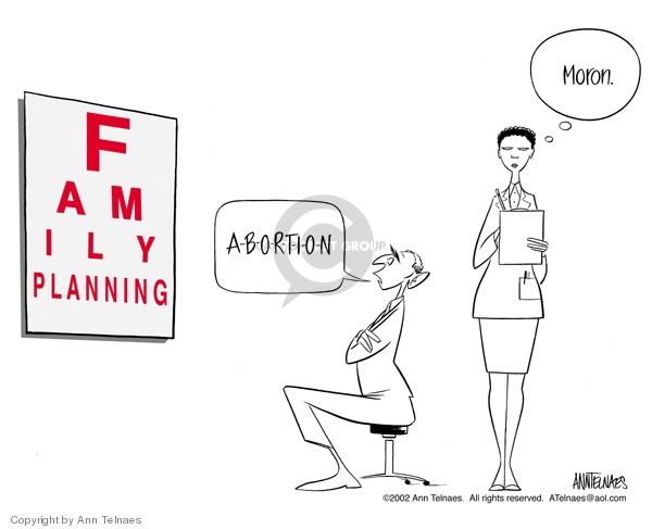 Ann Telnaes  Ann Telnaes' Editorial Cartoons 2002-12-07 pro-choice